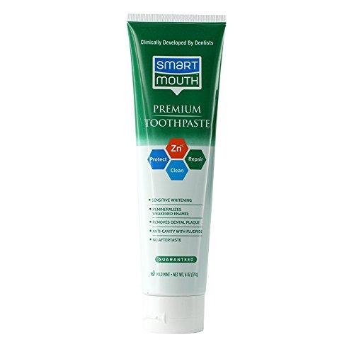 SmartMouth Premium Zinc Ion Toothpaste, Mild Mint...