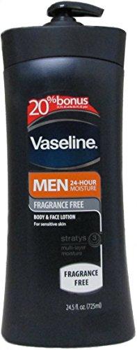 Vaseline Men 24-hrs Moisture Body & Face Lotion,...
