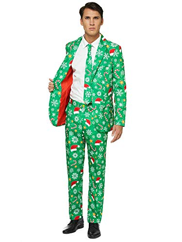 OFFSTREAM Ugly Christmas Suits for Men – Green...