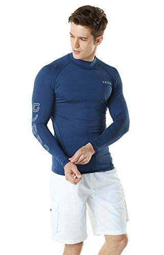 TSLA Men's UPF 50+ Long Sleeve Rashguard, Vibrant...