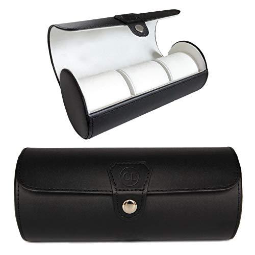 Vegan Leather Travel Watch Case Roll Organizer by...