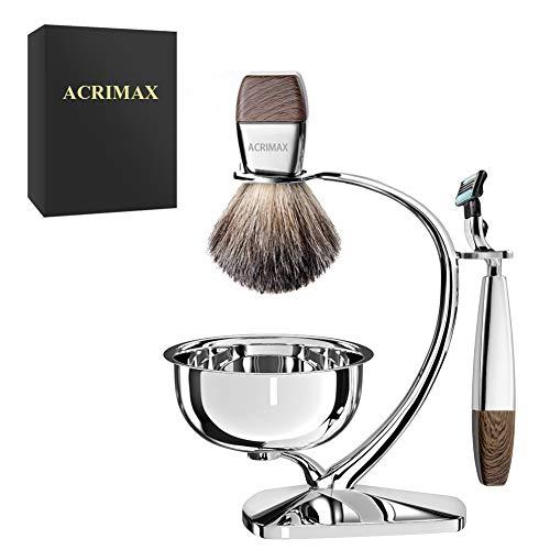 Premium Shaving Kit for Men, 4in1, ACRIMAX Badger...