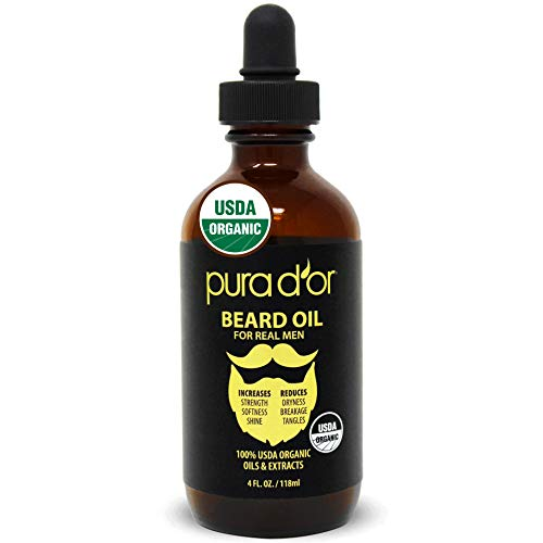 PURA D'OR Beard Oil (4oz / 118mL) USDA Organic...