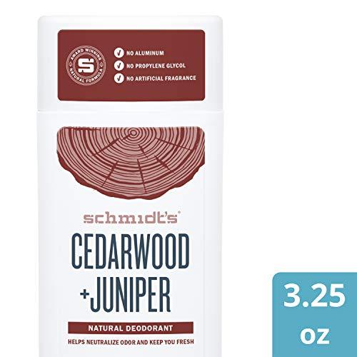 Schmidt's Deodorant Stick, Cedarwood + Juniper,...
