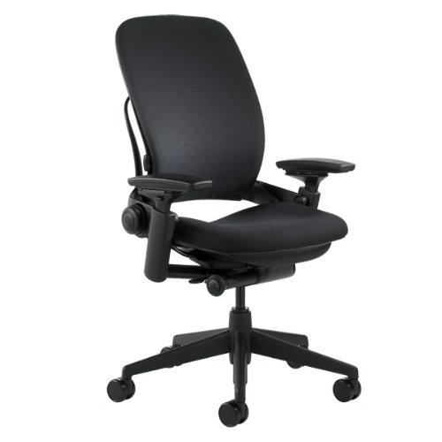 Steelcase Leap Chair, Black Fabric,FBA_
