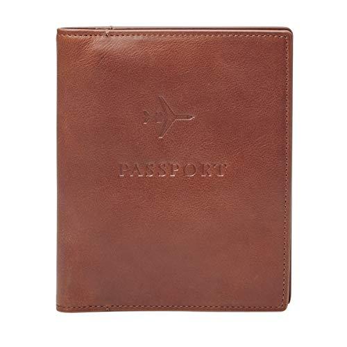 Fossil Men's Passport Case-Cognac, Dark Brown, One...