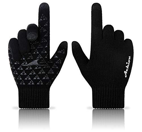 Achiou Winter Knit Gloves Touchscreen Warm Thermal...