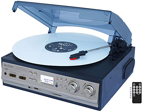 Boytone BT-17DJS 3-speed Stereo Turntable, with...