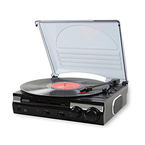 Jensen JTA-230 3 Speed Stereo Turntable with Built...