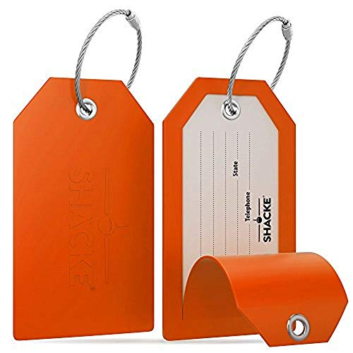 Shacke Luggage Tags with Full Back Privacy Cover...