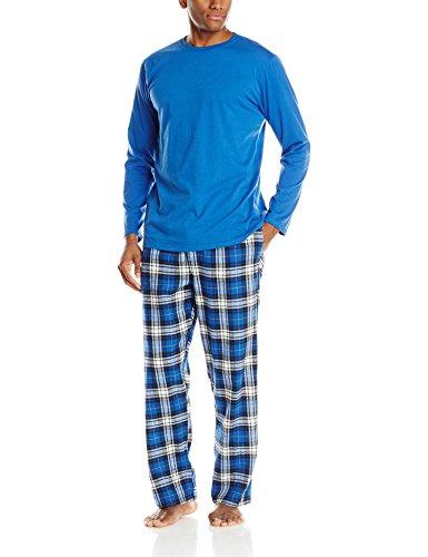 Hanes Men's Flannel Sleep Gift Set, True Blue,...