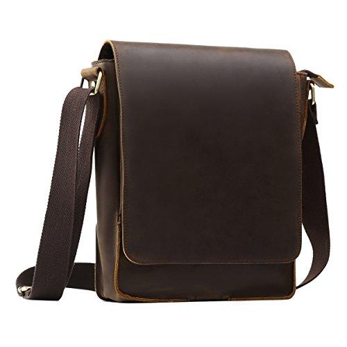 Men's Leather Cross Body Bag Shoulder Messenger...