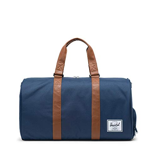 Herschel Novel Duffel Bag, Navy/Tan Synthetic...