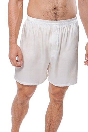 TexereSilk Men's 100% Silk Boxers (Country Club,...
