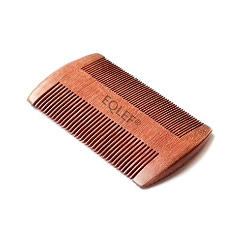 EQLEF Red sandalwood no static handmade comb,...