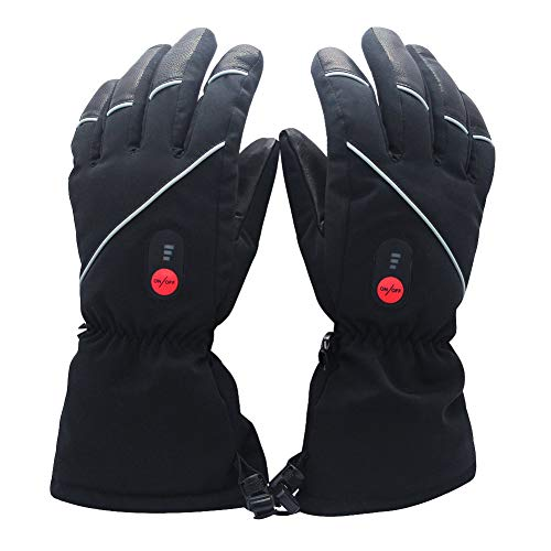 Savior Heated Gloves for Men Women, Skiing Heated...