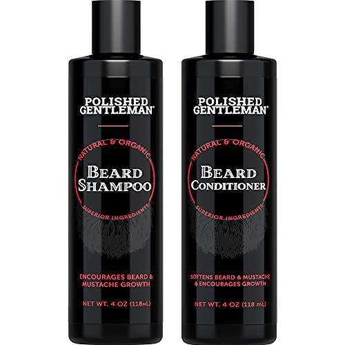 Beard Shampoo and Conditioner Set - Beard Wash and...