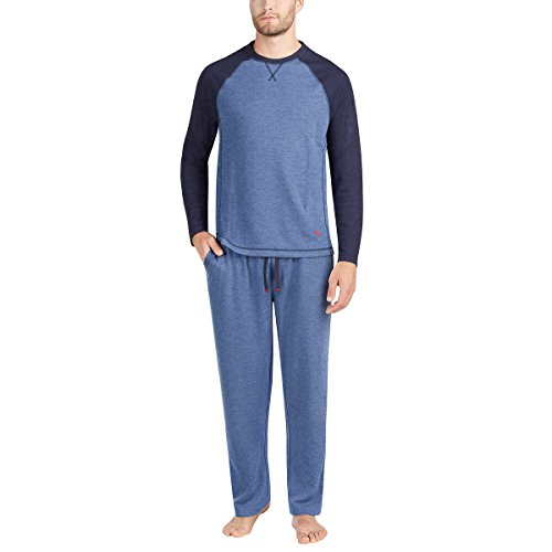 Tommy Bahama Mens Pajama Set, Crew Neck Top and...