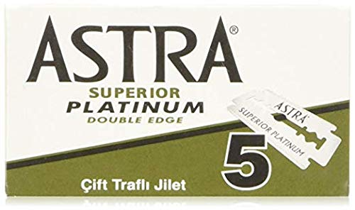 Astra Platinum Double Edge Safety Razor Blades...