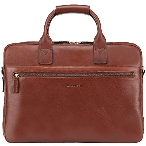Banuce Full Grains Italian Leather Briefcase for...
