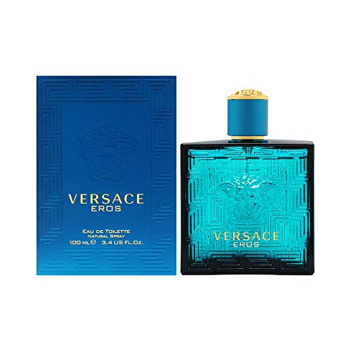 Versace Eros Eau de Toilette Spray for Men, 3.4 Fl...
