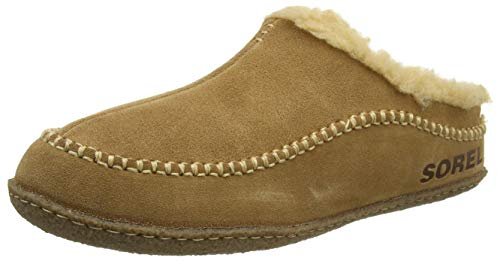 Sorel Men's Open-Back Slippers, Camel Brown Curry,...