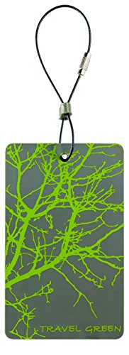 Lewis N. Clark Travel Green Luggage Tag, Branches