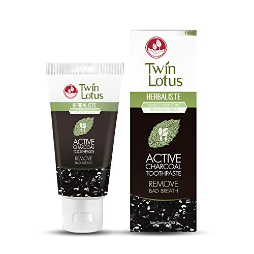 TWIN LOTUS Charcoal Teeth Whitening Toothpaste...