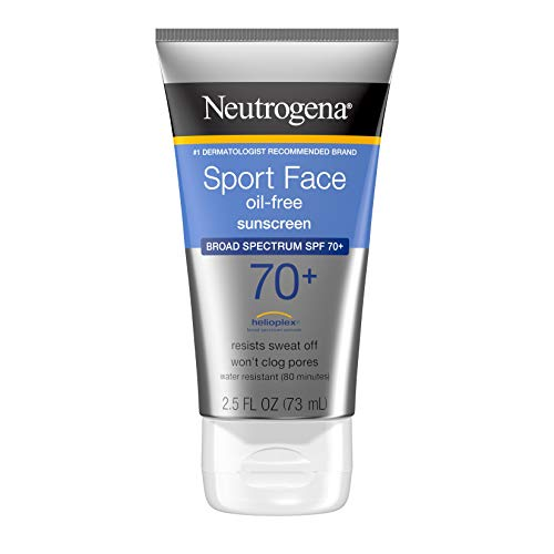 Neutrogena Sport Face Sunscreen, Oil-Free...