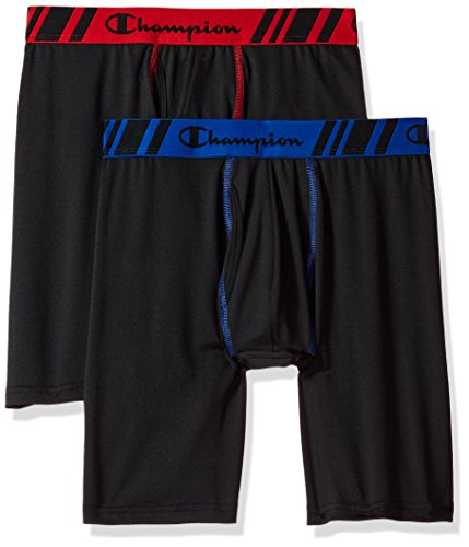 Champion Men's Tech Performance Long Boxer Brief,...