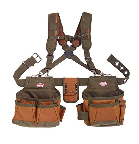 Bucket Boss Airlift 2 Bag Tool Belt with...