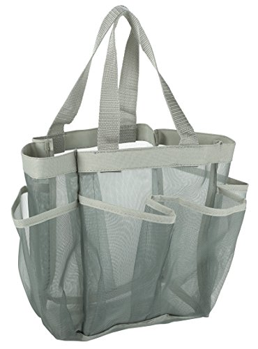 7 Pocket Shower Caddy Tote, Grey - Keep your...