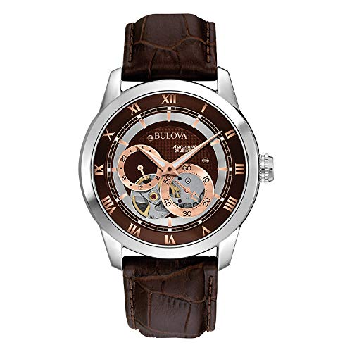 Bulova Men's Brown 96A120 BVA Series Dual Aperture...