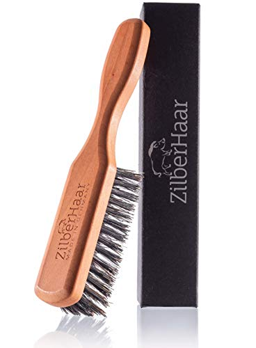 Beard Brush by ZilberHaar - Stiff Boar Bristles -...
