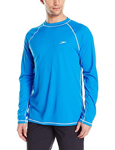 Speedo Men's Uv Swim Shirt Long Sleeve Loose Fit...