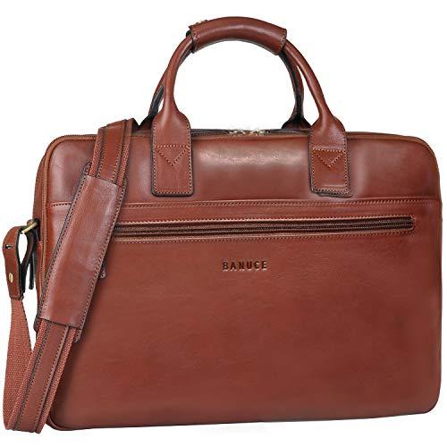Banuce Vintage Full Grains Italian Leather...