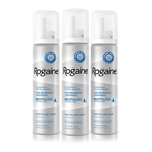 Men's Rogaine 5% Minoxidil Foam for Hair Loss and...