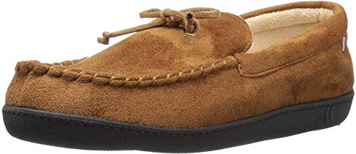 isotoner Men's Microsuede Moccasin Slipper with...