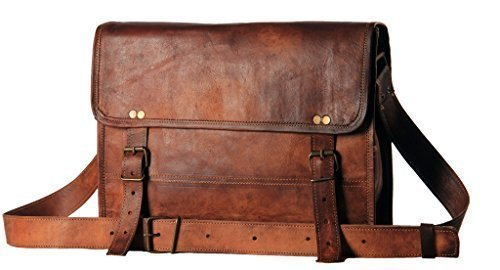 Men's Leather Messenger Satchel Shoulder Briefcase...