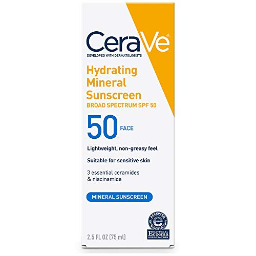 CeraVe 100% Mineral Sunscreen SPF 50 | Face...