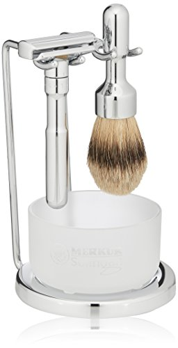 Merkur Futur 4-Piece Shaving Set, Polished Finish