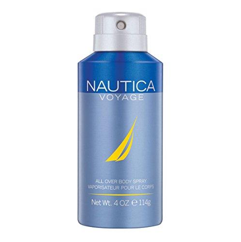 Nautica Voyage Deodorizing Body Spray for Men, 4...