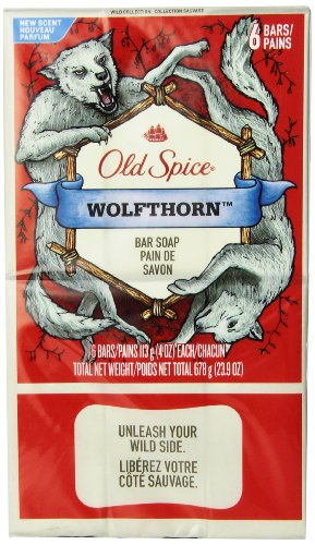 Old Spice Wild Collection Wolfthorn Men's Bar Soap...