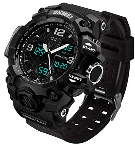 Men's Analog Sports Watch, LED Military Wrist...