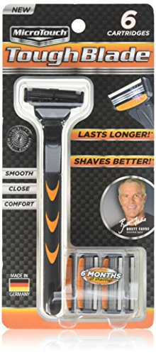 Micro Touch Triple-Blade Razor with 6 Refill...