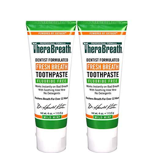 TheraBreath Fresh Breath Toothpaste fluoride Free...