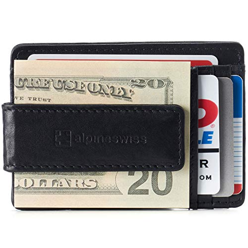 Alpine Swiss RFID Harper Money Clip Front Pocket...