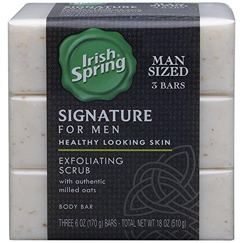 Irish Spring Signature Exfoliating Bar Soap, 6oz,...