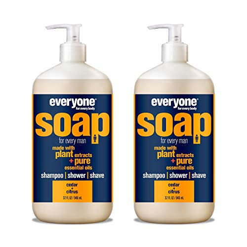 Everyone Men's 3-in-1 Soap: Shampoo, Body Wash,...