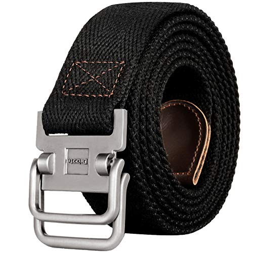 Drizzte 43'' Long Belt Double D Ring Mens Canvas...